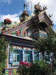 house of the blacksmith Sergey Kirillov, near Yekaterinburg city. Russia.