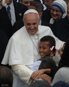 Pape François - Pope Francis - Papa Francesco - Papa Francisco - JMJ RIO 2013 - Visite de la favela Varginha