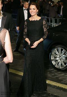 Duchess Catherine in Diane von Furstenberg gown and Jimmy Choo heels, November 2014