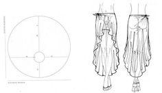 Sukně   střihová modelace