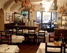 Il Latini, Florence Italy.  Wonderful lunch here.  Even though the kids thought the pig's head on the counter was gross!