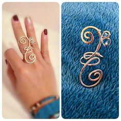 a handmade Bass clef hammered wire ring. Simple and elegant www.facebook.com/ituinition