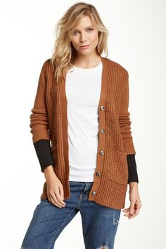 Colorblock Knit Cardigan by Ash Rain + Oak on @HauteLook