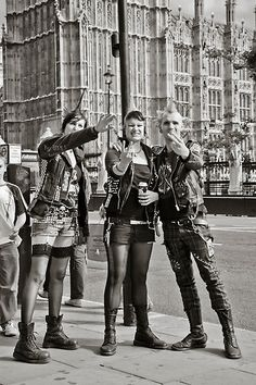 Punk rockers, London,  Go To www.likegossip.com to get more Gossip News!