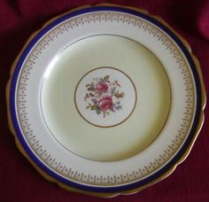 Johnson-Bros-Pareek-Large-Charger-Cabinet-Plate-Cobalt-Gold-Rose-Floral-England Johnson Brothers China, Johnson Bros, China Dinnerware, Plates, Tableware, Retro, Floral, Cobalt, Licence Plates