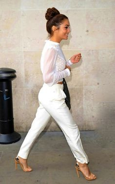 If you can pull this off.. seriously rock it. All white. Hot casual outfit.