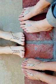 Barefoot Sandals...It was acceptable to go to go barefoot in public places back in the 1970s!! Barefoot sandals dressed up your barefeet!