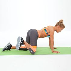 For a toned butt, try these moves from celebrity fitness trainer Tracy Anderson. She has four amazing moves to lift and firm your bottom. Add ankle weights to kick it up a notch.