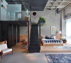 via heavywait - modern design architecture interior design home decor & Living Room Bedroom, Home Decor Bedroom, Loft Design, House Design, Modern Design, Loft House, Home Office Decor, Little Houses, Home Interior Design