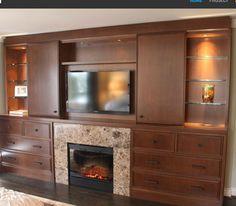 Hidden TV Cabinet Open