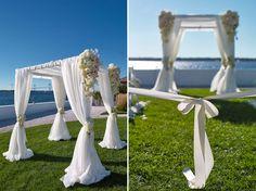 Simple yet elegant Chuppah at Belle Mer Chuppah, Ceremony Decorations, Wedding Flowers, Elegant, Simple, Classy, Chic, Bridal Flowers