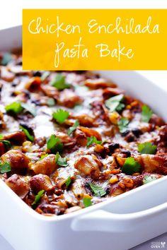 Chicken Enchilada Pasta Bake   Gimme Some Oven.