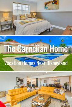 Beautiful and affordable Anaheim vacation home near Disneyland. |      The Carnelian Home by Twelve Springs has 5 bedrooms, 3 bathrooms, a pool, hot tub, game room, bbq, and all the modern conveniences.