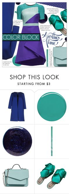 """COLOR BLOCK"" by celine-diaz-1 ❤ liked on Polyvore featuring P.A.R.O.S.H., Burberry, Lauren B. Beauty, Botkier, N°21 and Lattori"