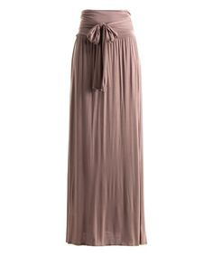 Loving this Mauve Tie-Waist Maxi Skirt on #zulily! #zulilyfinds