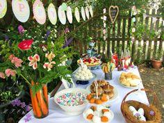 www.memoriesforeverevents.com - Easter Brunch Table ♥ Brunch Table, Easter Brunch, Breakfast Ideas, Easter Eggs, Carrots, Vase, Table Decorations, Home Decor, Decoration Home