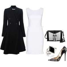 A fashion look from December 2015 featuring Emilio Pucci dresses, Givenchy coats y Jimmy Choo pumps. Browse and shop related looks.