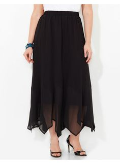 1920s style Catherines Plus Size Skirt - black $89.00 AT vintagedancer.com