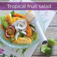 <br />Foto: South African Recipes, Ethnic Recipes, Tropical Fruit Salad, Delicious Breakfast Recipes, Mango, Good Food, Meals, Desserts, Drinks