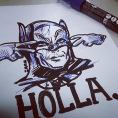 Batman holla! Old school adam west version - Sketch N Kustom Design   Mark Bernard's Website