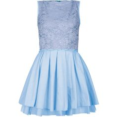 TOPSHOP **Audrey Dress by Jones and Jones ($91) ❤ liked on Polyvore featuring dresses, blue, frozen, lacy dress, floral print dress, lace dress, topshop dresses and high neckline dress