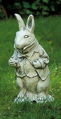 White Rabbit Garden Statue A Touch Of Art In The Garden Pinterest Gardens Them And