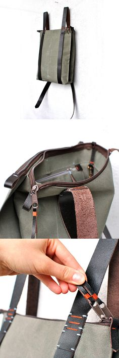 e00802a11fb8 Handcrafted canvas Backpack - Zipper daypack 302 features minimalist straps  against a variety of solid colors