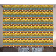 Living Room Bedroom Window Drapes 2 Panel Set Red Blue Ambesonne Farmhouse Decor Curtains American Flag Patchwork with Vertical and Horizontal Stripe and Star Forms 108W X 84L inches