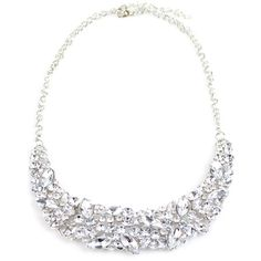 Faux Crystal Wedding Jewelry Necklace (1.080 HUF) ❤ liked on Polyvore featuring jewelry, necklaces, crystal wedding jewelry, imitation jewelry, imitation necklace, crystal stone necklace and fake crystal necklace