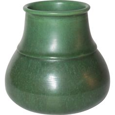 Hampshire Pottery, Matte Green Ringed Volcano Shaped Vessel, HTF