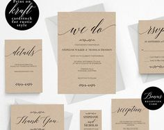Rustic Wedding Invitation Template, We Do Wedding Invitation Printable, Vintage Invitation, Cheap Invitation, DIY PDF Instant Download #E016