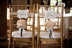 Bride and Groom Chair Signs #wedding #weddingideas  #weddingreception