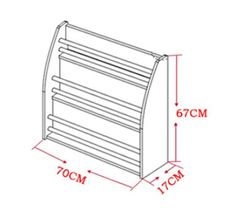 DIY Bookshelf (Small) - Design C. The perfect bookshelf designed to keep your children's books. Comes in white colour. Material:Wood. Dimensions: 67cm (H) by 70cm (L) by 17cm (B).
