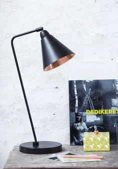 New-York Black & Copper Table Lamp by Description @Luvocracy |
