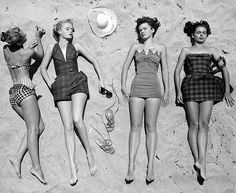 Vintage-at the beach.