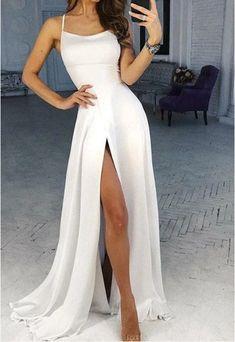 Pretty Prom Dresses, Backless Prom Dresses, Prom Gowns, Wedding Dresses, Dress Prom, Sexy Dresses, White Long Dresses, Junior Prom Dresses, Summer Dresses
