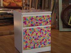 Manualidades y Artesanías | Mesa de luz con mosaico | Utilisima.com