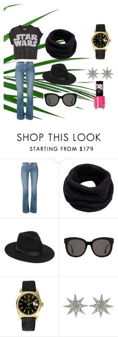 """""""Picnic time"""" by goyalshreya ❤ liked on Polyvore featuring Helmut Lang, Lack of Color, Gentle Monster, Rolex, Bee Goddess and Rimmel"""