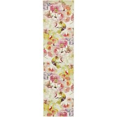 Unique Lyon Ivory/Brown Floral Runner Rug (2'7 x 10'), Size 3' x 10'