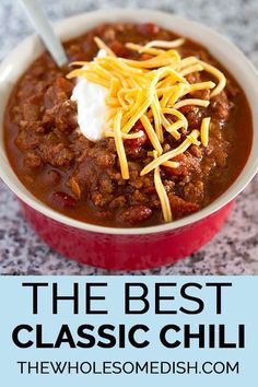Best Homemade Chili Recipe No Beans.The Best Homemade Chili Recipe Easy Delicious! Chunky No Bean Chili Low Carb Yum. The Best Homemade Chili Recipe Hangry Fork. Home and Family Classic Chili Recipe, Best Chili Recipe, Chilli Recipes, Healthy Recipes, Crockpot Recipes, Soup Recipes, Cooking Recipes, Simple Chili Recipe, Recipe Recipe