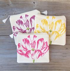 Makeup Bag Cosmetic Bag Floral Bag Zipper Pouch by JannysGirl Spring Is Here, Spring Time, Floral Bags, Esty, Zipper Pouch, Textile Art, Cosmetic Bag, Clutches, Purses And Bags