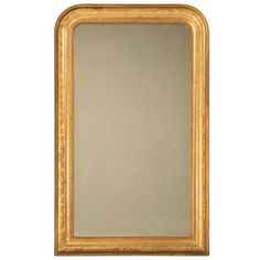 "Jaw-Dropping 55 x 34"" Original Antique French Louis Philippe Gilt Mirror.  I wish this was in my budget!  I will be shopping for one just like this though."
