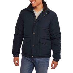 Chaps Big Men's Quilted Jacket, 2XL, Blue