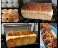 Recipe JUMBO 900G WHITE BREAD LOAF / ROLLS by lailahrosebowie1993 - Recipe of category Breads & rolls