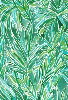 FUNKY JUNGLE Barbarian print | Click through to shop this print and download a phone wallpaper. #tropical #leaves #palm #green #greenery