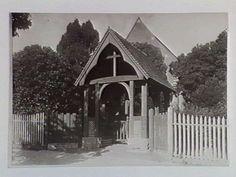 The original gate & fence of St John's Soldiers Hill. Ballarat.
