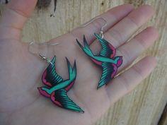 jerry sailor bird earrings