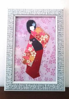 Your place to buy and sell all things handmade Kimono Origami, Origami Paper, Cute Bookmarks, Japanese Paper, Floral Kimono, Gifts For Girls, Red And Pink, Paper Dolls, Personalized Gifts