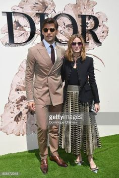 Johannes Huebl and Olivia Palermo attend the Christian Dior Haute Couture Fall/Winter 20172018 show as part of Haute Couture Paris Fashion Week on...