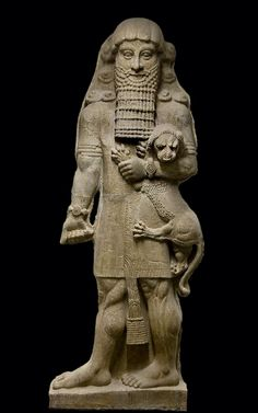 """""""Gilgamesh was the fifth king of Uruk. Reigned for 126 years. In the Tummal Inscription, Gilgamesh and his son, Urlugal, built the sanctuary of the goddess Ninlil, in Tummal. The Epic of Gilgamesh, is the greatest surviving work of early Mesopotamian literature. His father was Lugalbanda & his mother was Ninsun, a goddess. In Mesopotamian mythology, Gilgamesh is a demigod who built the city walls of Uruk to defend his people from external threats. He is usually described as 2/3 god & 1/3…"""